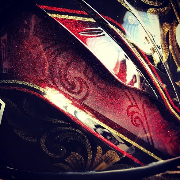 #rods70x _#rodsdesign _#helmets _#x14 _#custompaint _#bluethunders
