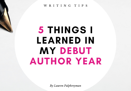 5 things I learned in my debut author year