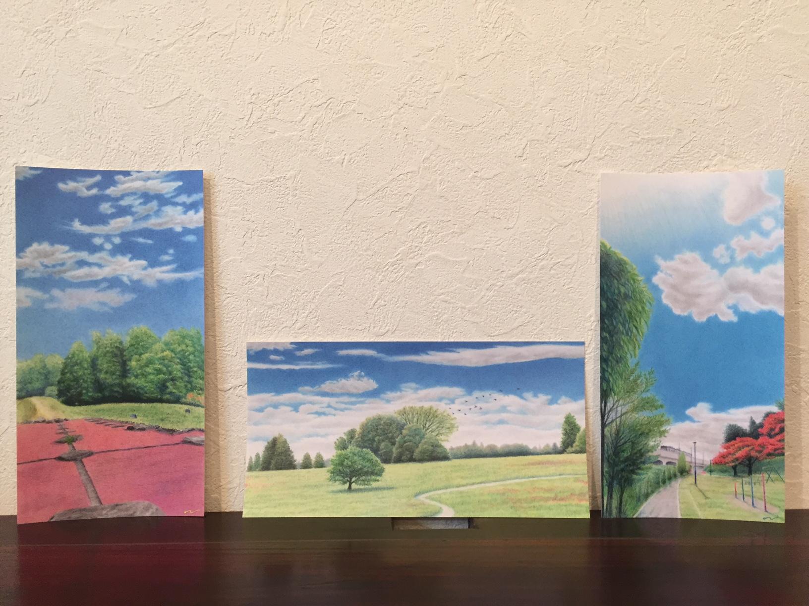 多賀城の風景ポストカード(アトリエぷるぷる)