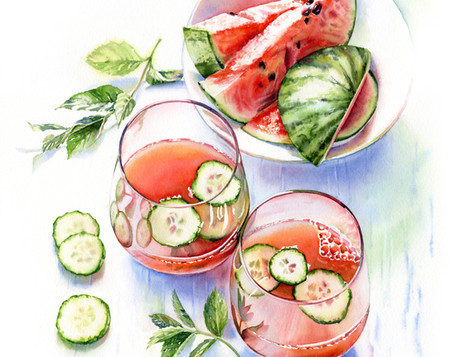 Watercolor Summer Beverages