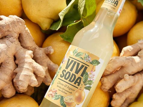 Illustrations for ViviSoda labels