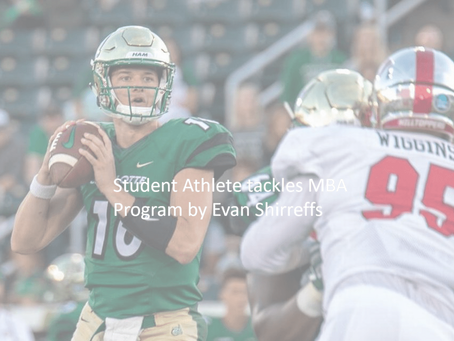 Student Athlete tackles MBA Program by Evan Shirreffs