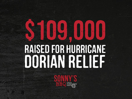Sonny's BBQ Raises Over $109,000 and Delivers 4,200 lbs. of Supplies for Hurricane Dorian Relief