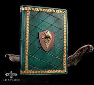 Carved Leather Journal Wolf Theme Medieval