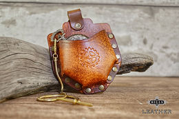 Leather Steampunk Fob Watch Compass Belt Pouch Holder