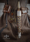 Steampunk Leather Accessory Kit Pouches Belt Holster