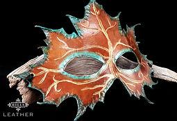 Autumn Leaf Dryad Mask Masquerade Mask