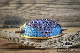 Purple and Blur Fantasy Mermaid Dragonscale Hair Barrette