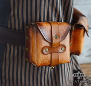 Single Leather Belt Pouch Steampunk Costume Accessory