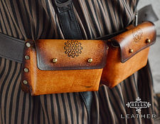 Double Belt Pouch Steampunk Costume Accessory
