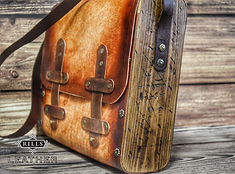 Distressed Aged Pirate Adventure Leather and Wood Bag Larp Cosplay