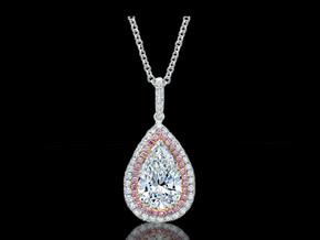 Pink and White Diamond Pendant