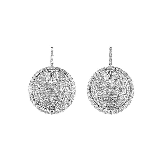 Divine Collection White Diamond Earrings