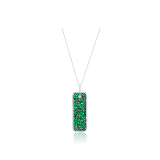 Champagne Collection Emerald Rectangle Pendant