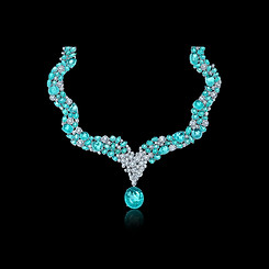 Paraiba and Diamond Necklace