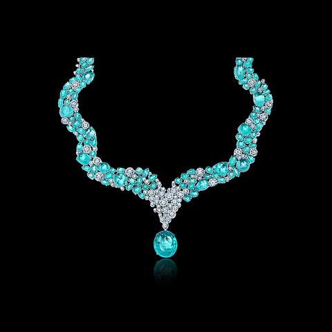 Paraiba and Diamond Necklace