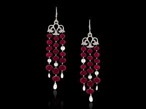 Ruby and Diamond Chandelier Earrings