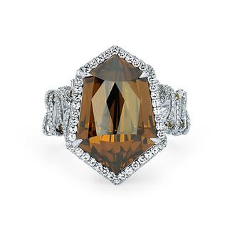 Brown Diamond Shield Ring