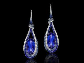 Tanzanite Twist Earrings