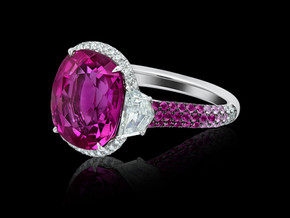Gradiated Pink Sapphire Ring