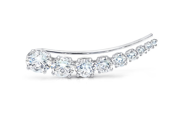 Round Brilliant Diamond Ear Climber