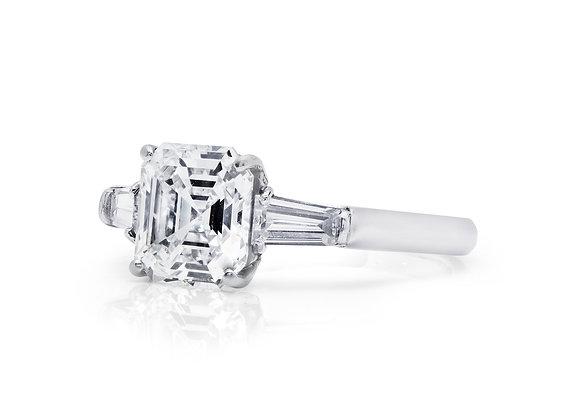 Classic Asscher Diamond Ring