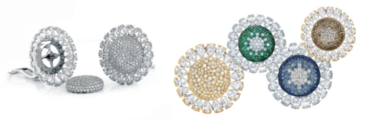 sunflower earrings diamond