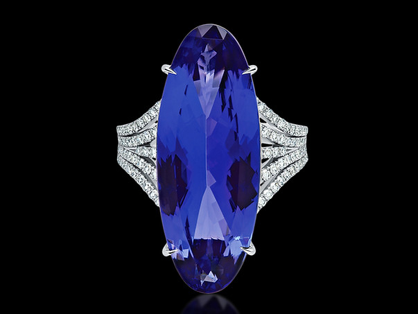 Grand Oval Tanzanite Ring