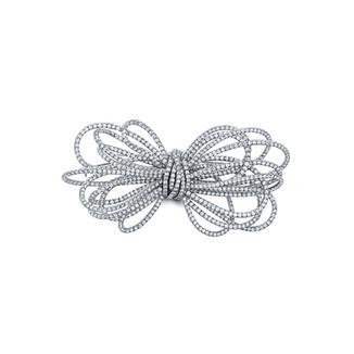 Small White Diamond Bow Pin