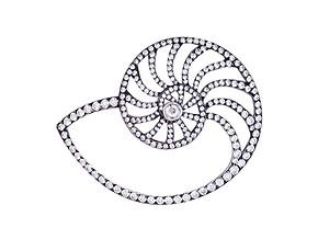 Nautilus Diamond Pin