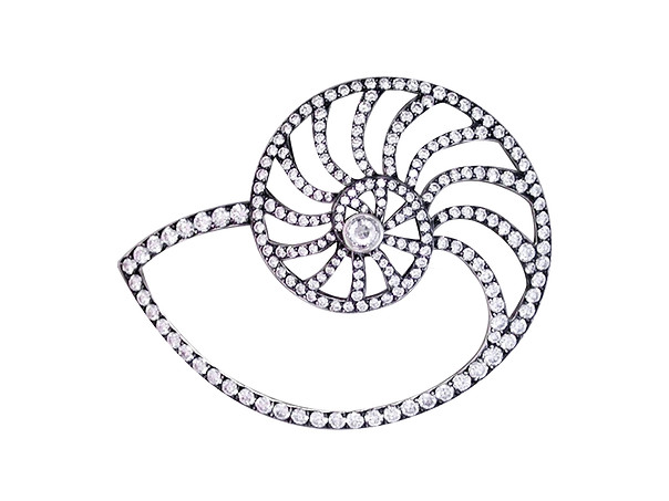 Nautilus Diamond Pin