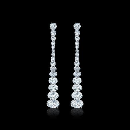 Diamond Stiletto Earrings