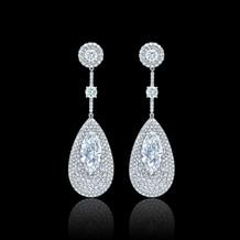 Marquise Diamond Paddle Shaped Earrings