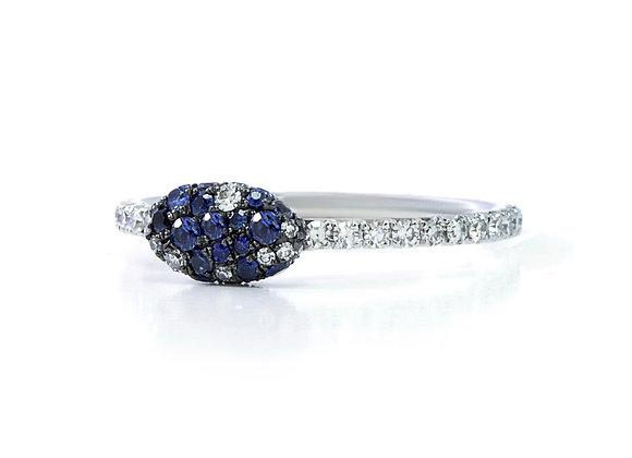 Oval Blue Sapphire Diamond Ring Martin Katz