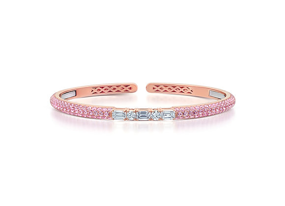 Pink Sapphire Bangle Rose Gold Martin Katz