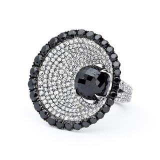 Divine Collection Black Diamond Ring