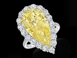 Pear Shaped Yellow Diamond Ring