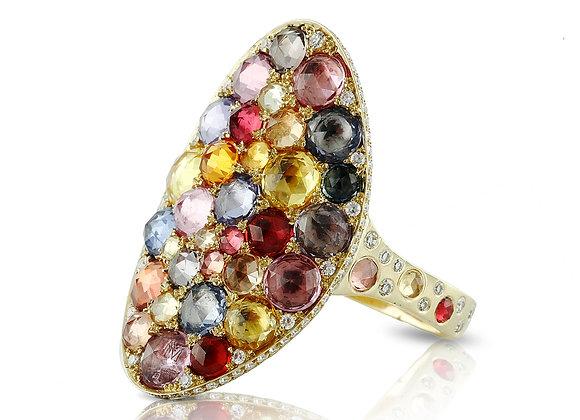 Sapphire Saddle Ring