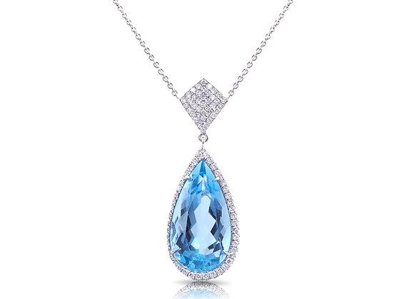 Pear Shaped Aquamarine Pendant