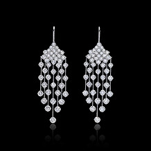 Rain Diamond Drop Earrings