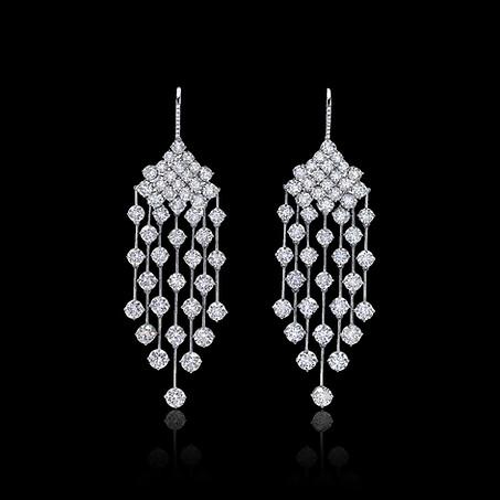 Rain Diamond Drop Earrings