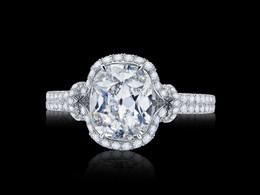 Microset Old Miner Cut Diamond Ring
