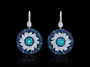 Paraiba Pinwheel Earrings