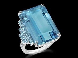 Emerald Cut Aquamarine Ring