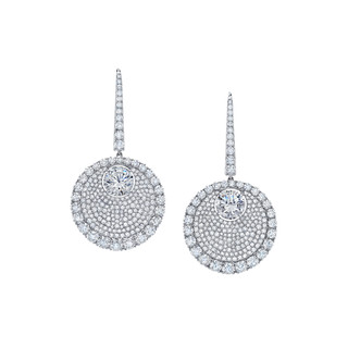 Divine Collection White Diamond Drop Earrings