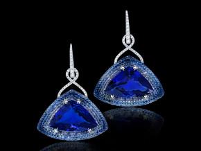 Trillion Tanzanite Earrings