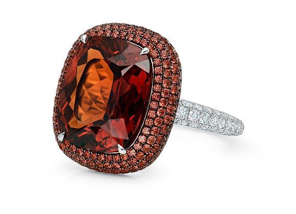 Mandarin Garnet Ring