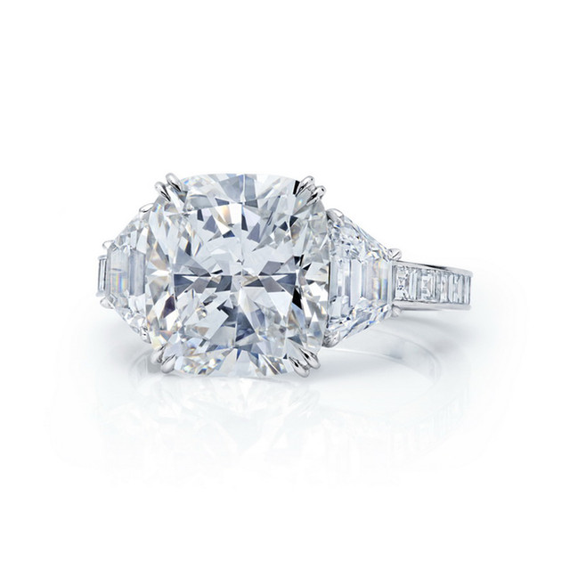 Grand Cushion Diamond Ring