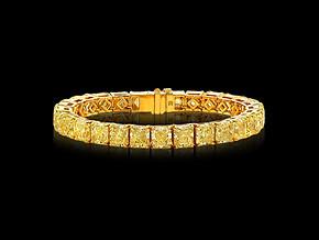Fancy Yellow Radiant Bracelet
