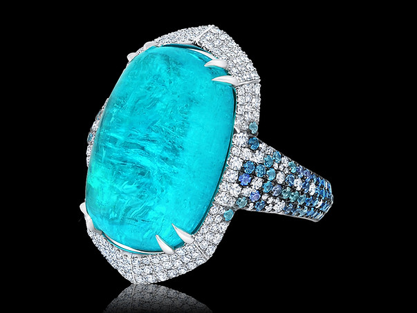 Grand Cabachon Paraiba Ring